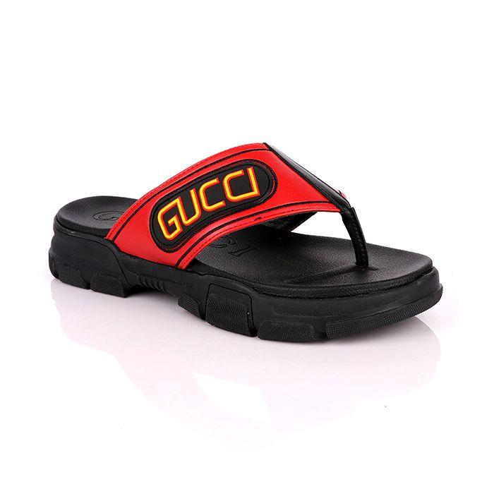 Gucci Flip Flop   Red Black