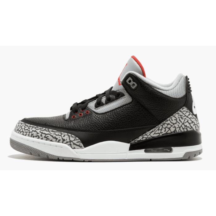 timeless design 16048 cae64 Air Jordan 3 Retro Black Grey White
