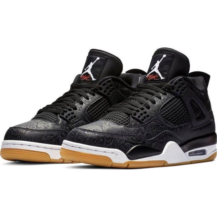 chaussures de sport 122f8 3a3bd Air Jordan 4 Retro | Grey Black Noir