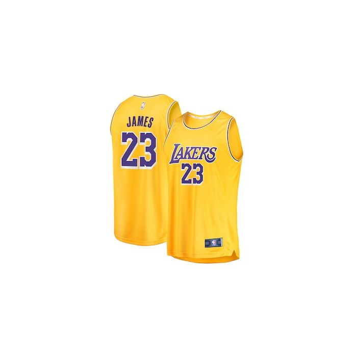 the latest 5a536 aeab5 Los Angeles Lakers Lebron James Nike Jersey | Yellow