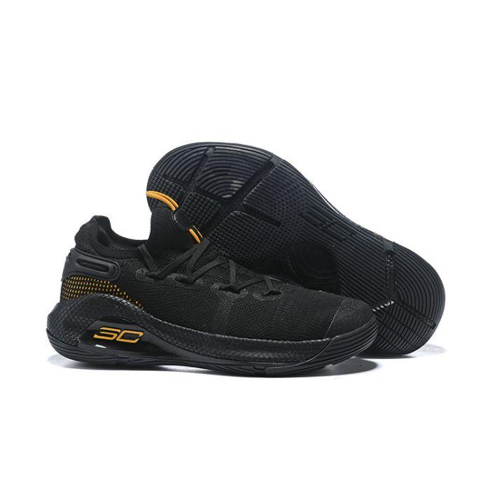 UA Stephen Curry 6 Black Gold Shoes