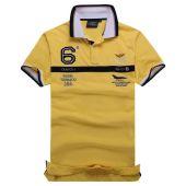 Aeronautica Militare 6 Logo Polo | Yellow Navy Blue White